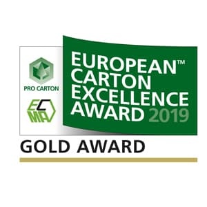 European Carton Excellence Award 2019 Gold Award